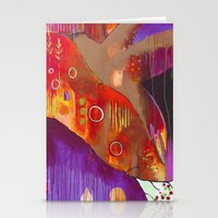 """flora bowley Stationery Cards featuring """"Reflect You"""" Original Painting by Flora Bowley by Flora Bowley"""