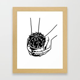 Cactus graphic illustration Framed Art Print