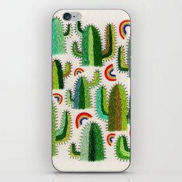 Cacti and Rainbows iPhone Skin