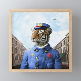 Postmaster Trenton Tigre on his Appointed Rounds Framed Mini Art Print
