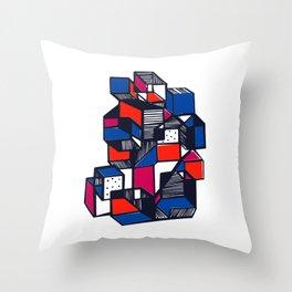 Geometric city pop art Throw Pillow