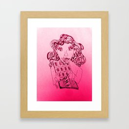Chocolate, a girls best friend Framed Art Print