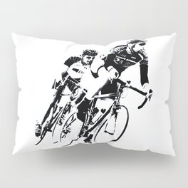 Bicycle racers into the curve... Pillow Sham