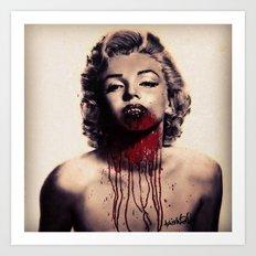 Vampire Marilyn Monroe Art Print