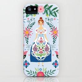 Fairy Tale Folk Art Garden iPhone Case
