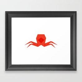 Origami Crab Framed Art Print
