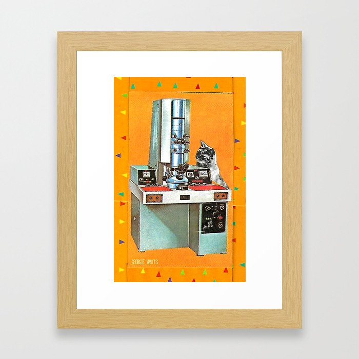 Wotcha Doin' There Then? Handcut Collage Framed Art Print