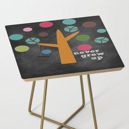 Never Grow Up Tree & Swing Kid's Room Decor Side Table
