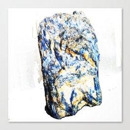 Kyanite crystall Gemstone Canvas Print