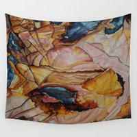 passion Wall Tapestries featuring Passion by Julie Coats