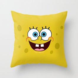 Yellow Smile Throw Pillow