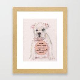 Bulldog humour Framed Art Print