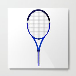 Tennis Racket Metal Print