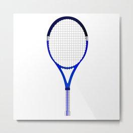Tennis Racket Metal Print