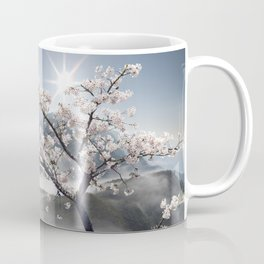 Japanese Cherry Landscape Coffee Mug
