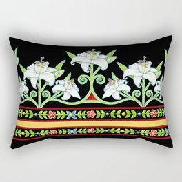 Elizabethan Lily Folkloric Stripe Rectangular Pillow