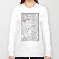 freddy krueger Long Sleeve T-shirts featuring Freddy Krueger by Aaron Bir by Aaron Bir
