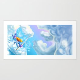 In the Clouds Art Print