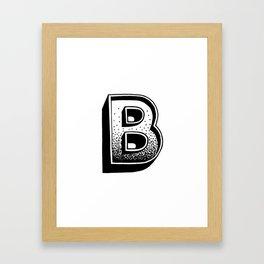 B Framed Art Print