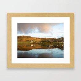 """Impromptu rainbow."" Loch Harport, Isle of Skye, Scotland Framed Art Print"