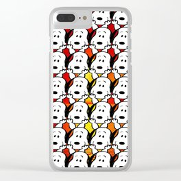 Sunset snoopy Clear iPhone Case