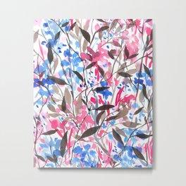 Wandering Wildflowers Pink Metal Print