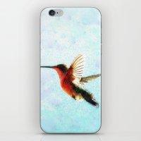 hummingbird iPhone & iPod Skins featuring Hummingbird by Nichole B.