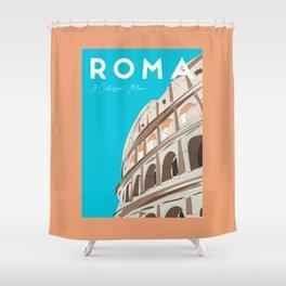 Rome, Italy Colosseum / Roma Il Colosseo, Italia Travel Poster Shower Curtain