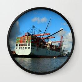 Cosco Cotainer Ship Wall Clock