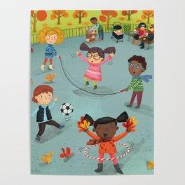 New York Fall Playground Poster