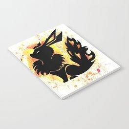 Flareon Splash Silhouette Notebook