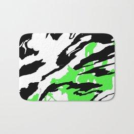 Green and Black Bath Mat