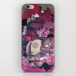 Dont Worry - Party Hard (Pink) Close Up iPhone Skin