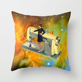 Barbara's Spaceship Throw Pillow