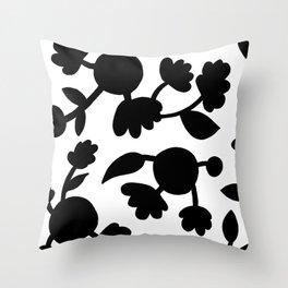 Bold floral pattern White Throw Pillow