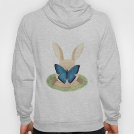 Butterfly resting on a bunny's nose Hoody