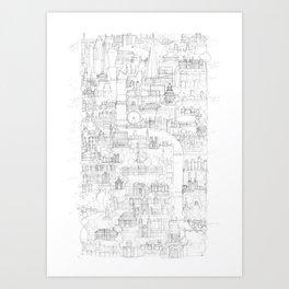 Vertical London Sketch Art Print