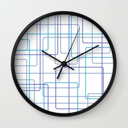 Blue Line Pattern Wall Clock
