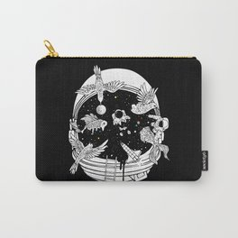 Depth of Discovery (A Case of Constant Curiosity-B/W) Carry-All Pouch