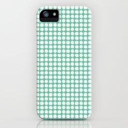 Along the Rio Grande: Turquoise Lattice Coordinate Print iPhone Case