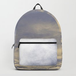 WHITE & BLUE & GOLD TOUCHING #1 #abstract #decor #art #society6 Backpack
