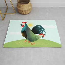 Kitchen Rooster Rugs | Society6