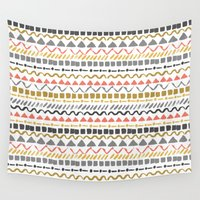 ethnic Wall Tapestries featuring Ethnic pattern by Julia Badeeva