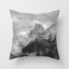 Yosemite First Snow On Half Dome 11-22-18 Throw Pillow