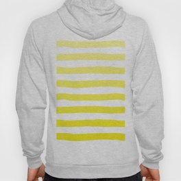 Sun Yellow Handdrawn horizontal Beach Stripes - Mix and Match with Simplicity of Life Hoody