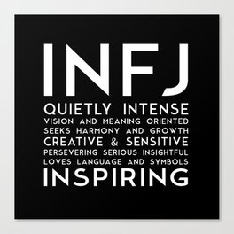 INFJ (black version) Canvas Print
