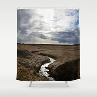 iceland Shower Curtains featuring iceland by katie moon