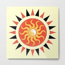 Yin yang sunshine Metal Print