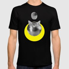 Disco kitty 2X-LARGE Mens Fitted Tee Black