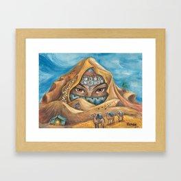 DESERT NYMPH Framed Art Print
